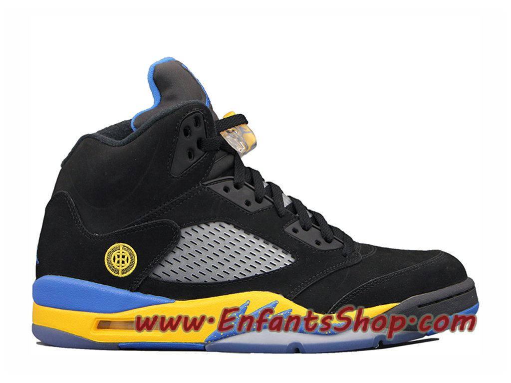 timeless design 6f329 cbcd3 Air Jordan 5 Retro Shanghai Shen Chaussures Nike Basket Pas Cher Pour Homme  Noir 136027-