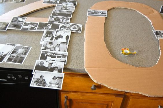 What Gift Do You Give For 25th Wedding Anniversary: DIY Giant Number Photo Collage