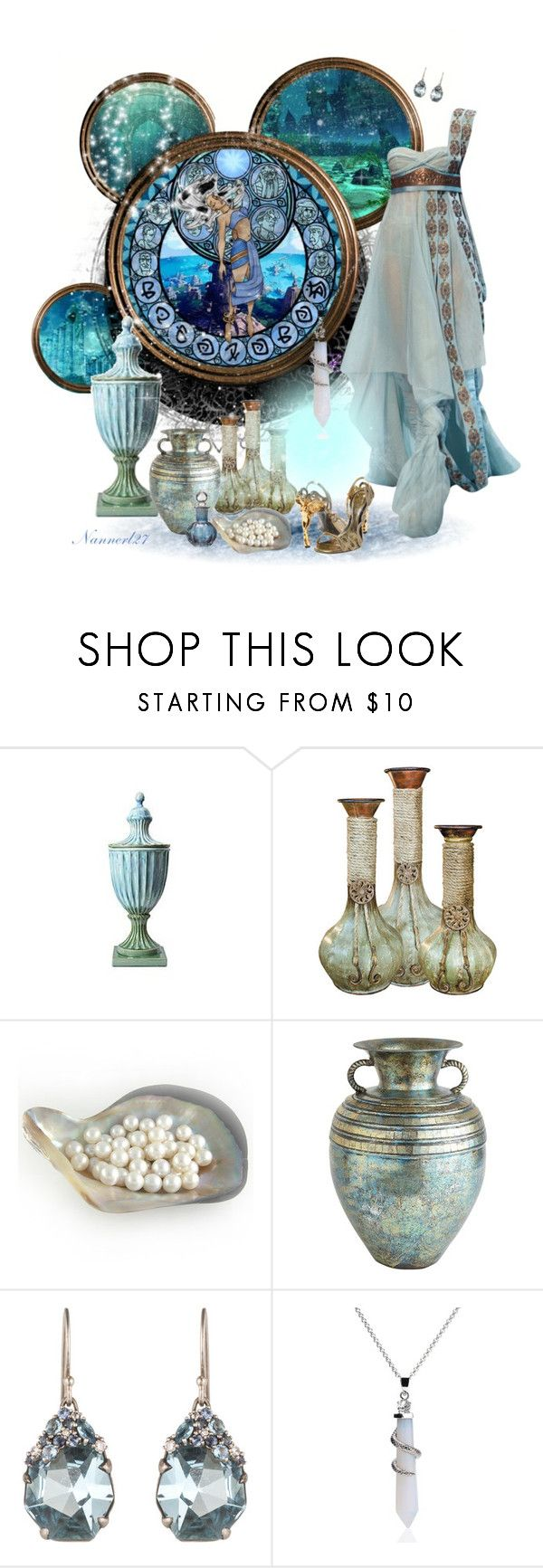 """Kira,Princess of Atlantis"" by nannerl27forever ❤ liked on Polyvore featuring Atlantis, Pier 1 Imports, J. Peterman, Alexis Bittar and Alexander McQueen"