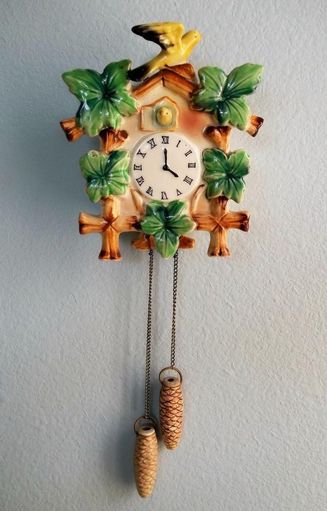 Vintage Cuckoo Clock Wall Pocket Numbered 50188 #Unbranded