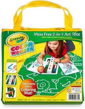 crayola color wonder mess free 2 in 1 art tote bag on shopstyle com