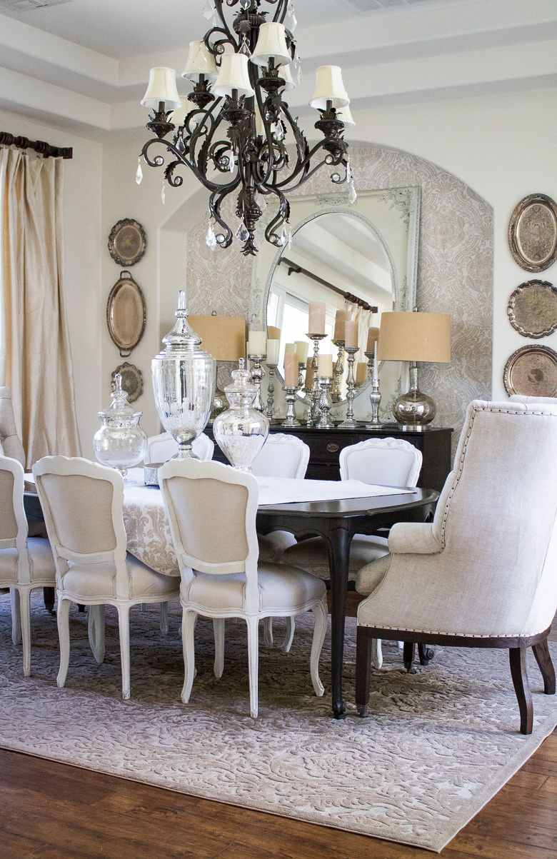 Why You Should Use Your Dining Room Elegant Neutral Dining Room Tour Elegant Dining Room Dining Room Curtains Dining Room Drapes #neutral #living #room #curtains