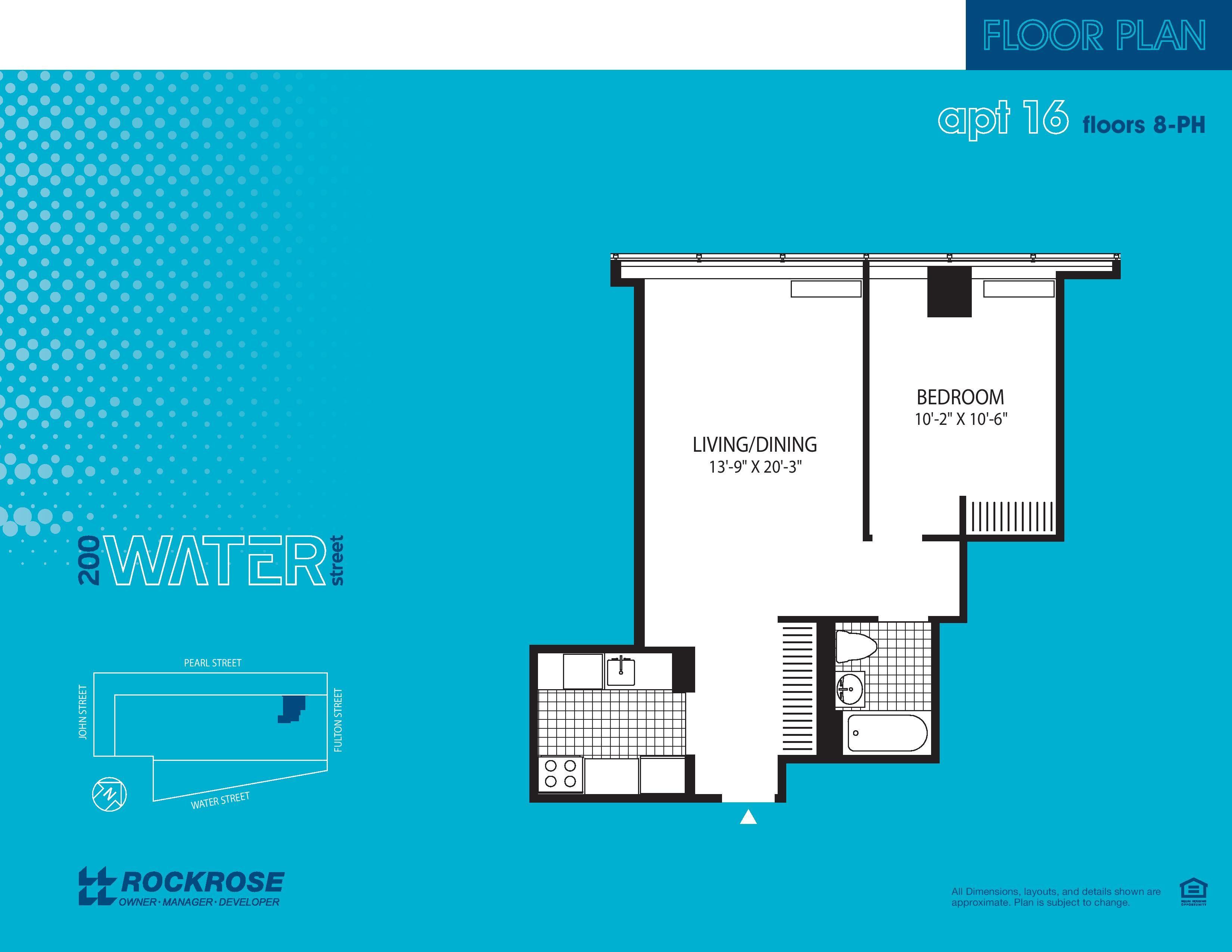 200 Water Street Apartment Floor Plans - New York NY   New York City ...