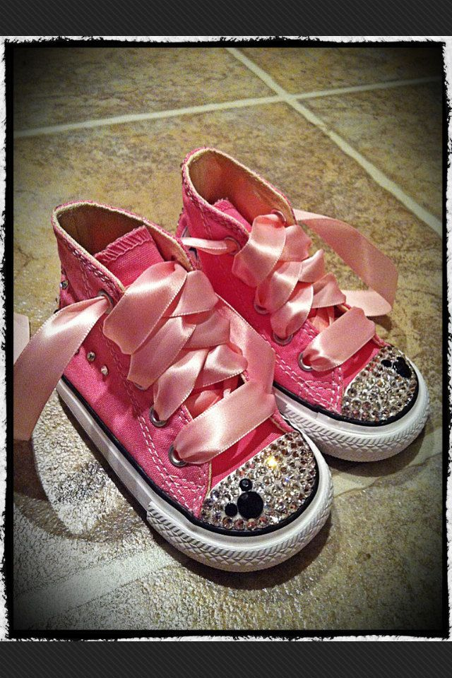 I m def making these Minnie Mouse bling converse shoes for Gracie!  o) 776710ec1fb3