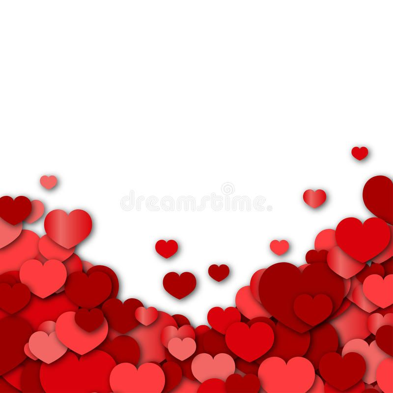 Valentines Day Background With Red Hearts Sponsored Day