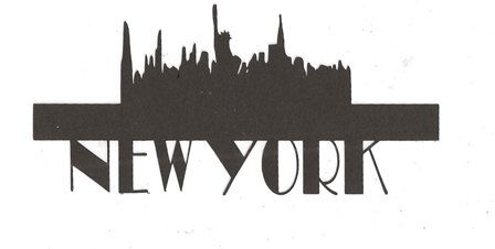 new york word silhouette with statue of liberty skyline new york city themed party. Black Bedroom Furniture Sets. Home Design Ideas