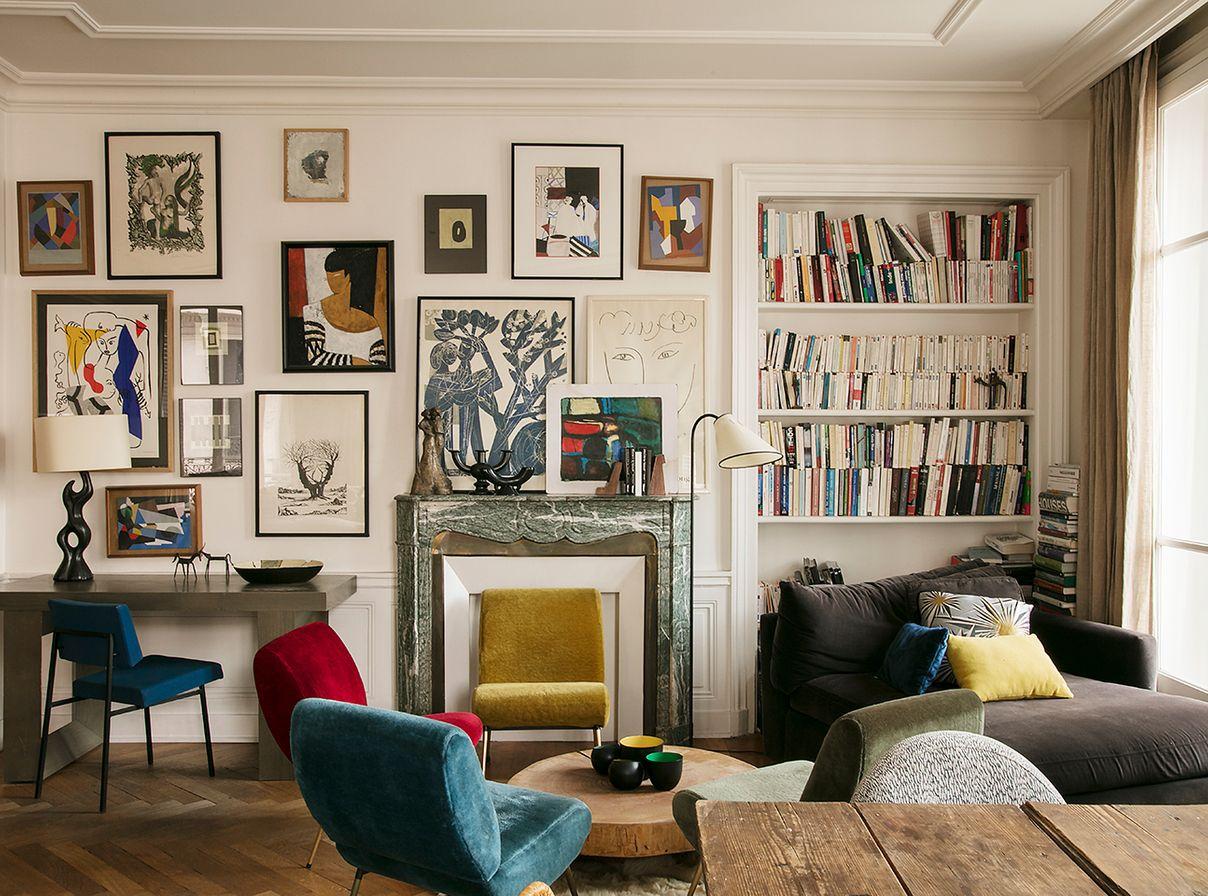nathalie rives interieur appartement parisien d coration inspiration ring the bell. Black Bedroom Furniture Sets. Home Design Ideas