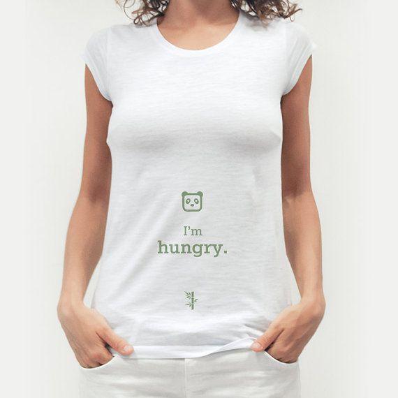 T-shirt Donna cotone 100% bear hungry por Pianetalook en Etsy
