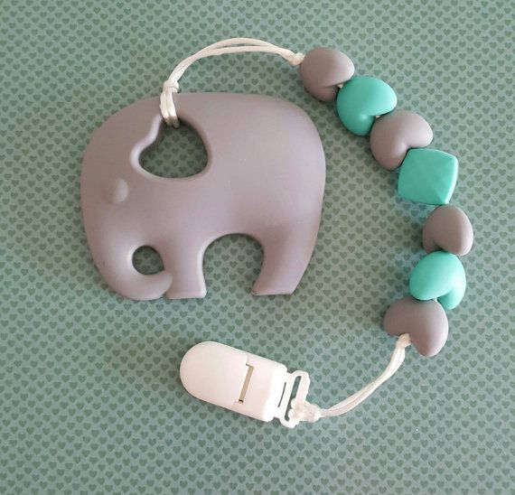 Hey, I found this really awesome Etsy listing at https://www.etsy.com/ca/listing/463850574/grey-baby-elephant-teether-with-clip-for