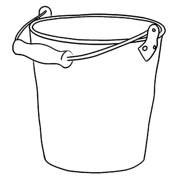 Taking Water With Bucket Coloring Pages Best Place To Color Coloring Pages Bucket Drawing Bubble Drawing