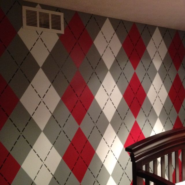 Argyle Ohio State Baby Nursery *Just An Accent Wall**