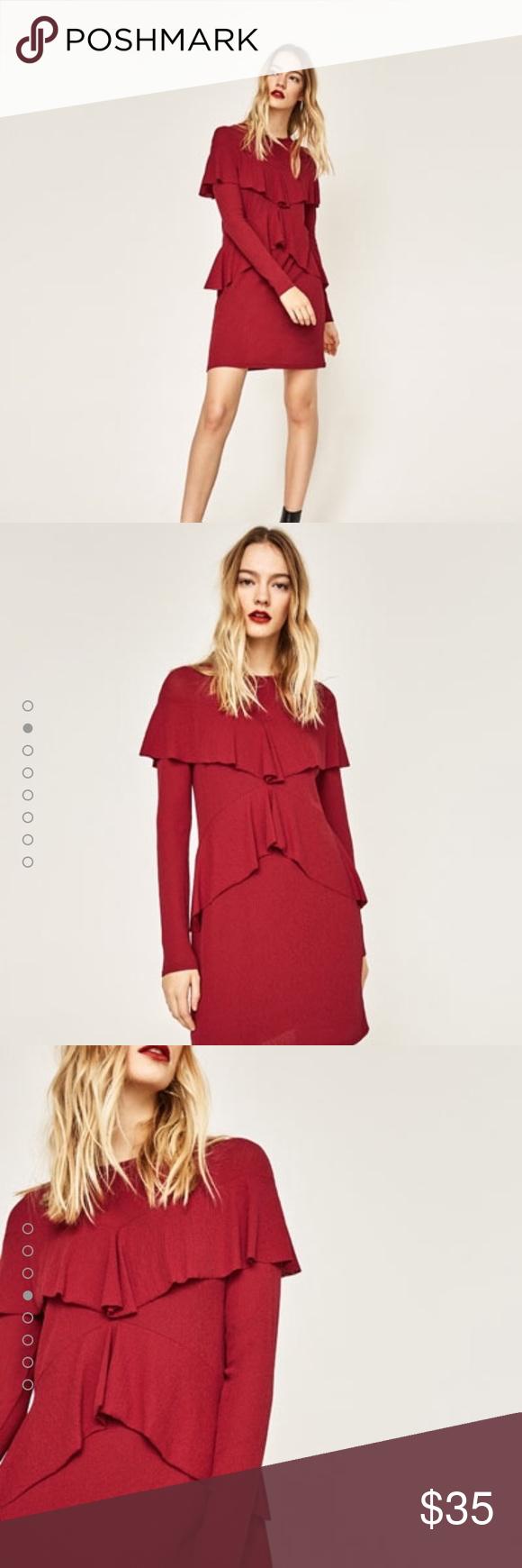 Zara red dress new no tags zara red dress zara dresses and ffa