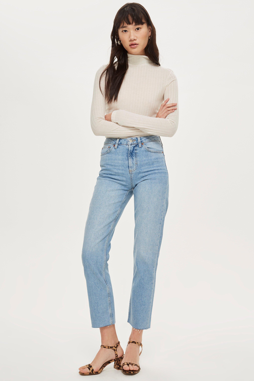b5868746e230 Bleach Raw Hem Straight Leg Jeans - Straight Leg Jeans - Jeans   My ...