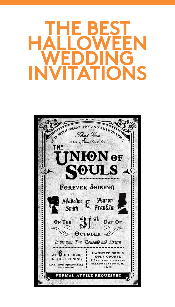 Halloween Wedding Invitations Your Guests Haven\'t Seen Before ...