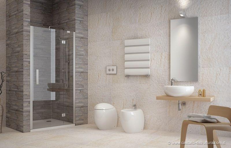 Doccia con piastrelle pietra cerca con google bagno bathroom lighting bathroom e mirror - Piastrelle pietra bagno ...
