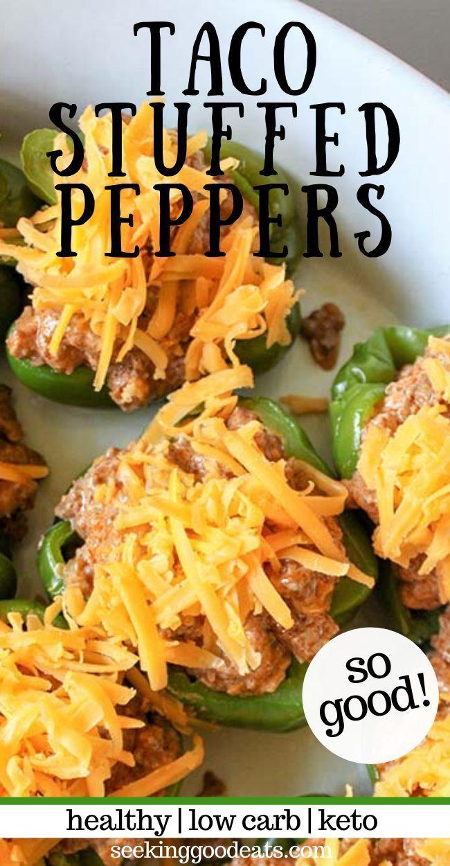 Taco Stuffed Bell Peppers (Keto Stuffed Peppers) | Recipe