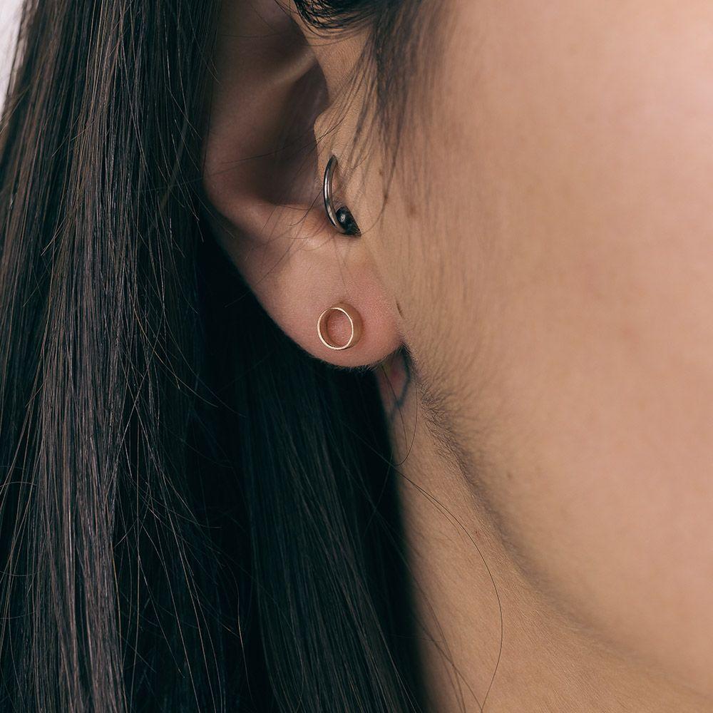 Κύλινδροι ροζ handmade-earrings-geometry-circle-jewelry-prigipo-rose-gold-plated