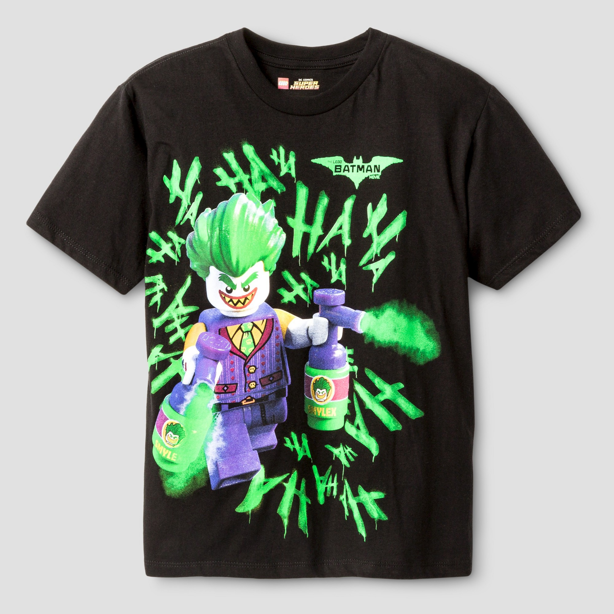4882f24a2 Boys' The LEGO Batman Movie Joker Graphic T-Shirt - Black XL ...