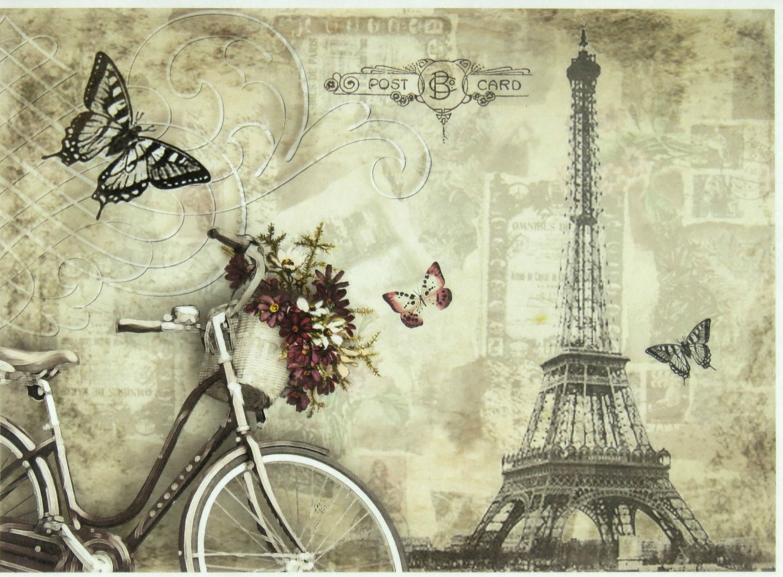 Papel De Arroz Para Decoupage Scrapbook Craft Amor en París