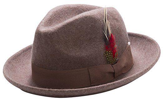 f309ba957cc9a Montique Untouchable Fine Felt Pinch Fedora Gangster Hat Review ...