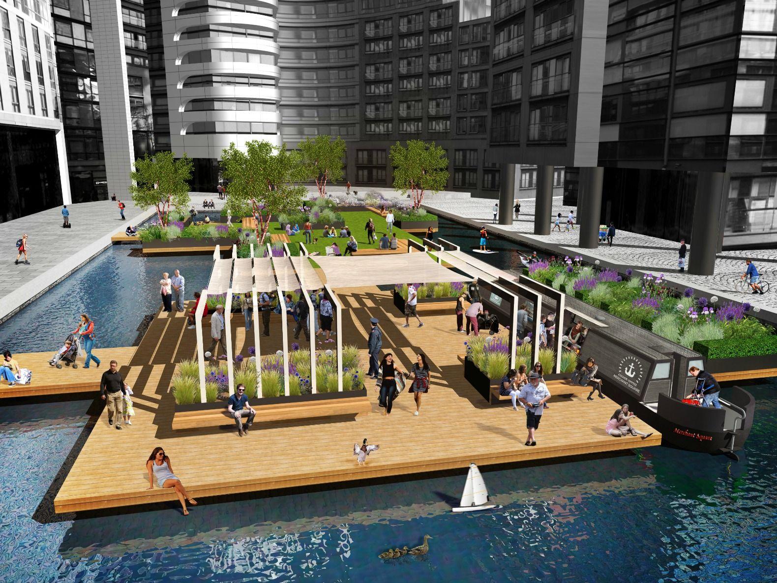 Image Result For Pocket Park Between Buildings Pocket Park Garden Bridge London Floating Garden