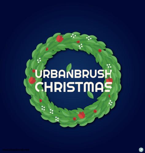 크리스마스 화환 일러스트 ai 무료다운로드 free Christmas wreath vector
