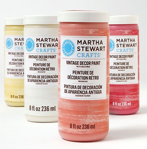 Martha Stewart Crafts® Vintage Decor   New Vintage Decor Paint With A Matte  Chalk Finish, Wax And Stencils In Stores And Great For Furniture, And Home  Decor ...