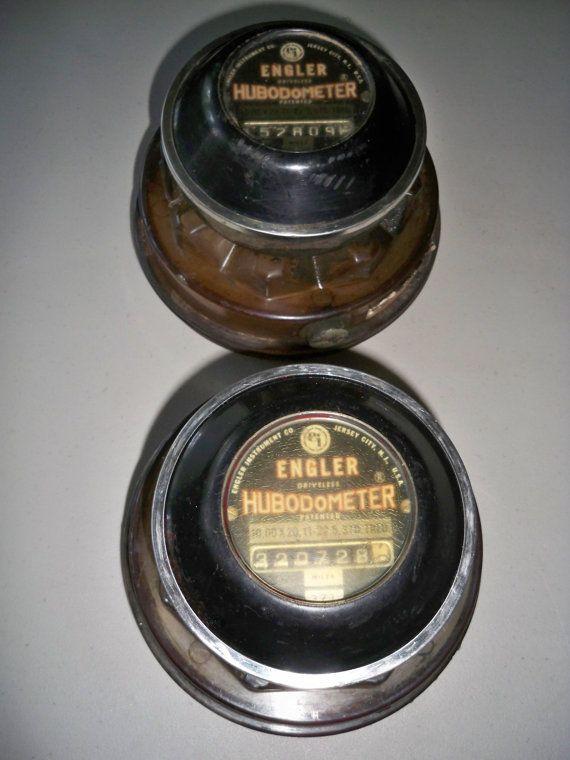 Vintage Pair of Engler Truck Hubodometers on Etsy, $32.79 AUD