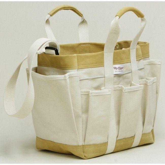 Heavy Canvas Tool Bag With 4 Inch, Canvas Garden Tool Bag