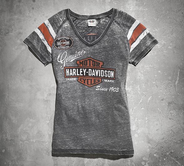Genuine Oil Can Burnout Tee | Harley davidson online store, Burnout