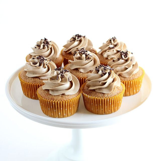 Spice Cupcakes with Maple Swiss Meringue Buttercream