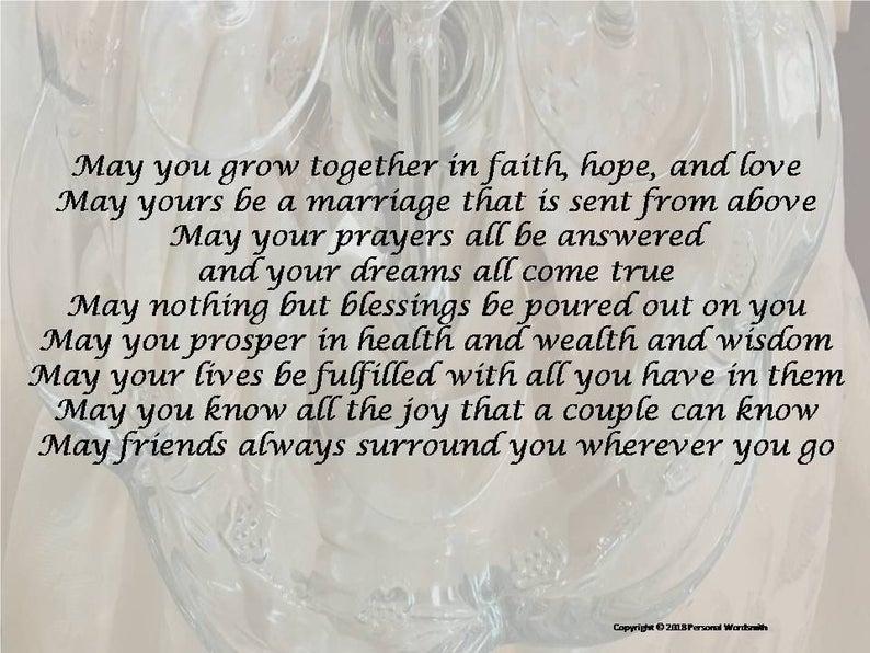 Blessing For Bride And Groom Digital Download Short Wedding Etsy In 2020 Wedding Speech Wedding Blessing Best Man Wedding Speeches