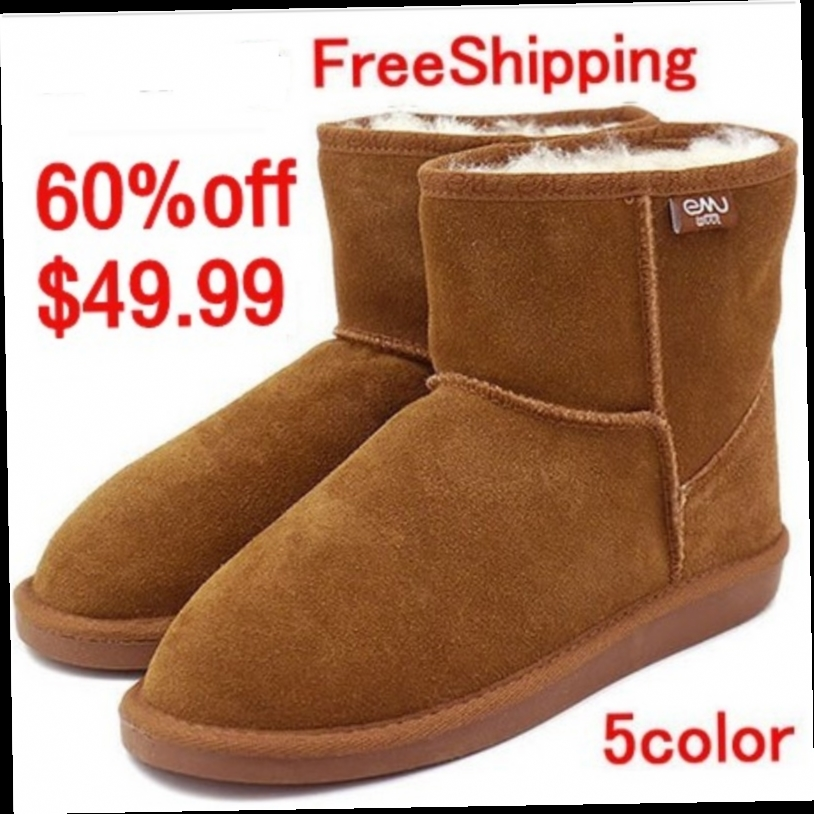 49.99$  Watch now - http://ali2au.worldwells.pw/go.php?t=32785164732 - NEW EMYEMU Bronte Mini(W20003) Cow-Suede Genuine with 100% Wool inner Winter Snow Boots 5color Free shipping