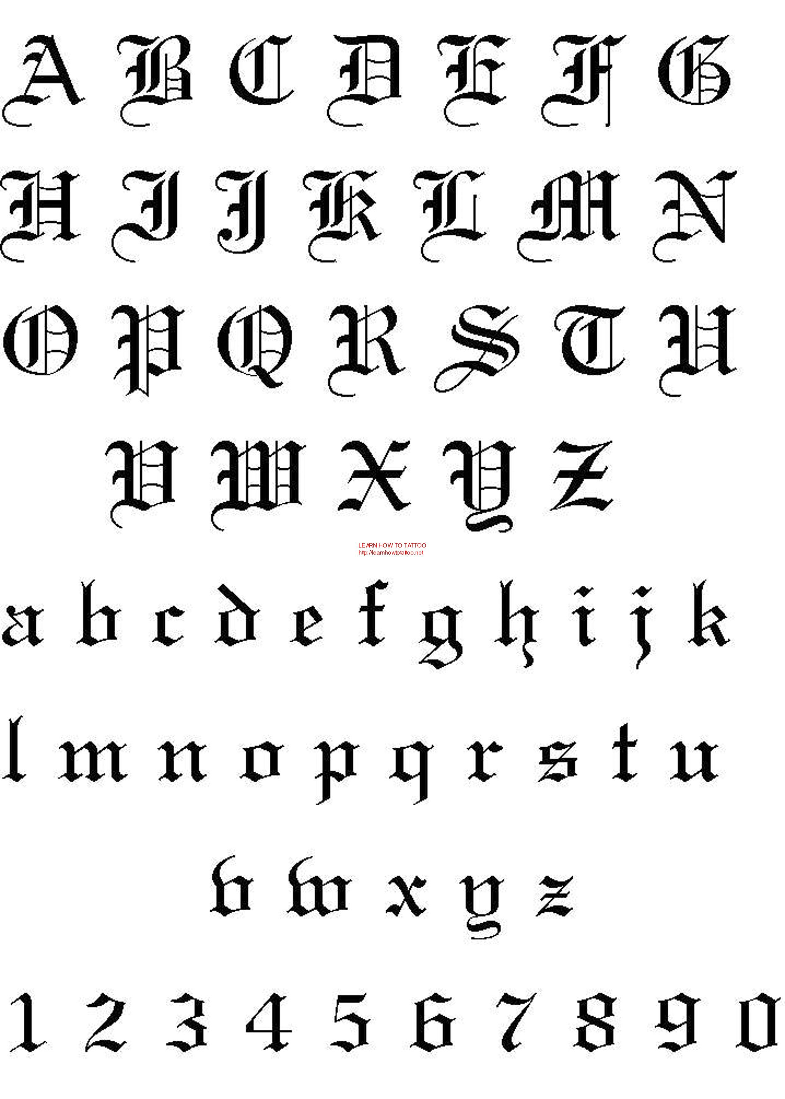 TATTOO FONTS … Calligraphy tattoo