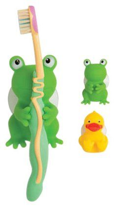 Mommy S Helper Froggie And Friend Tooth Brush Holder