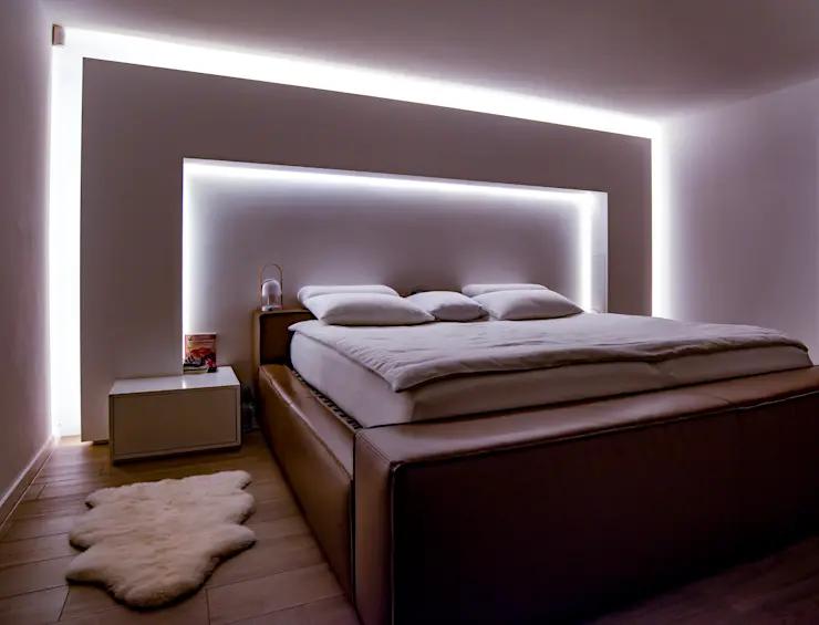 Schoner Wohnen Durch Indirekte Beleuchtung Von Moreno Licht Mit Effekt Lichtplaner In 2020 Schoner Wohnen Schlafzimmer Indirekte Beleuchtung Und Wohnen