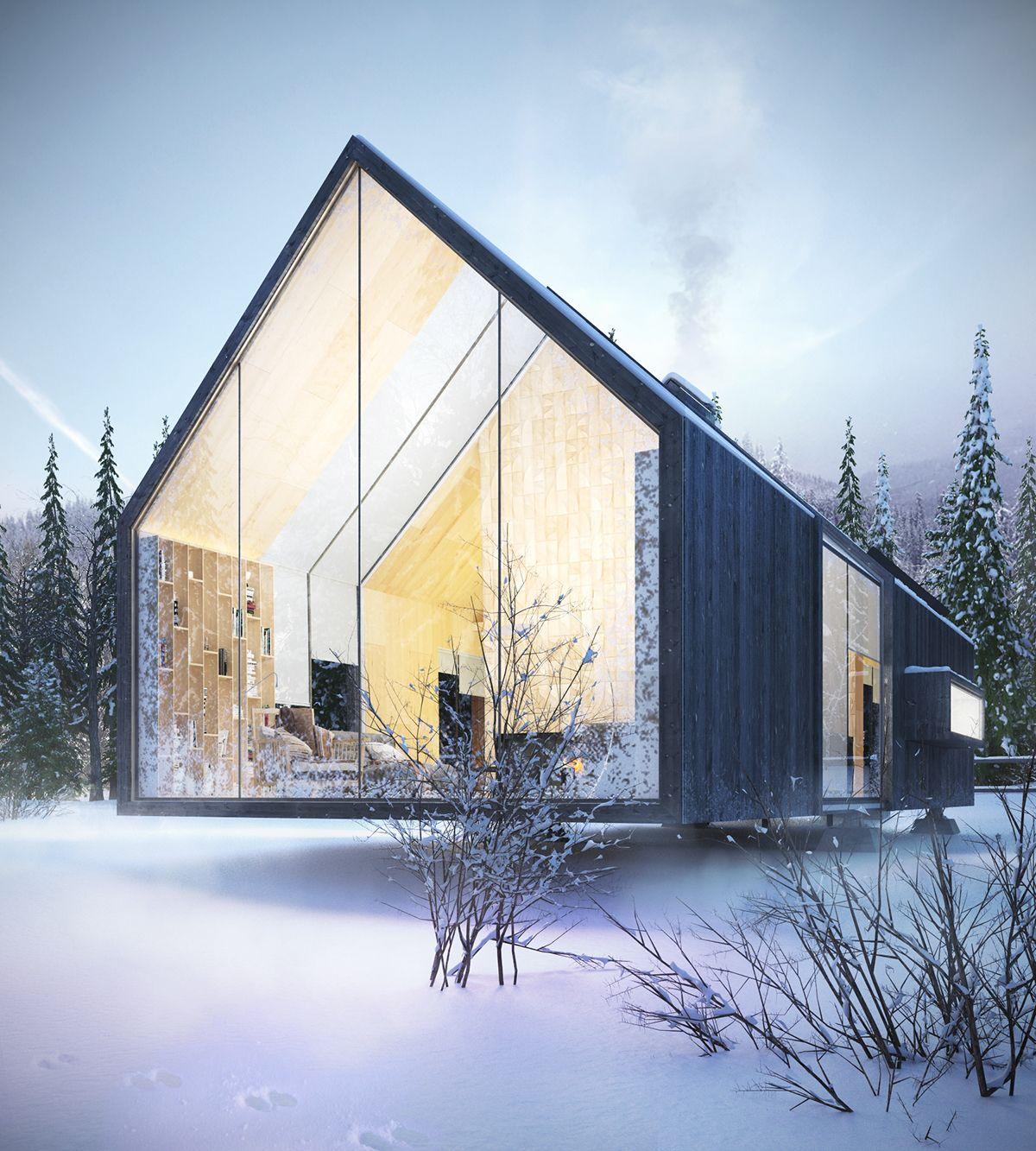 Retractable House Dmitry Sheleg Nowoczesna Stodo