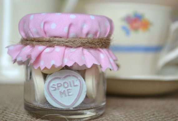 Love Heart Jar Wedding Favour Pastel Pink Mini Candy By Huffyhen 1 85