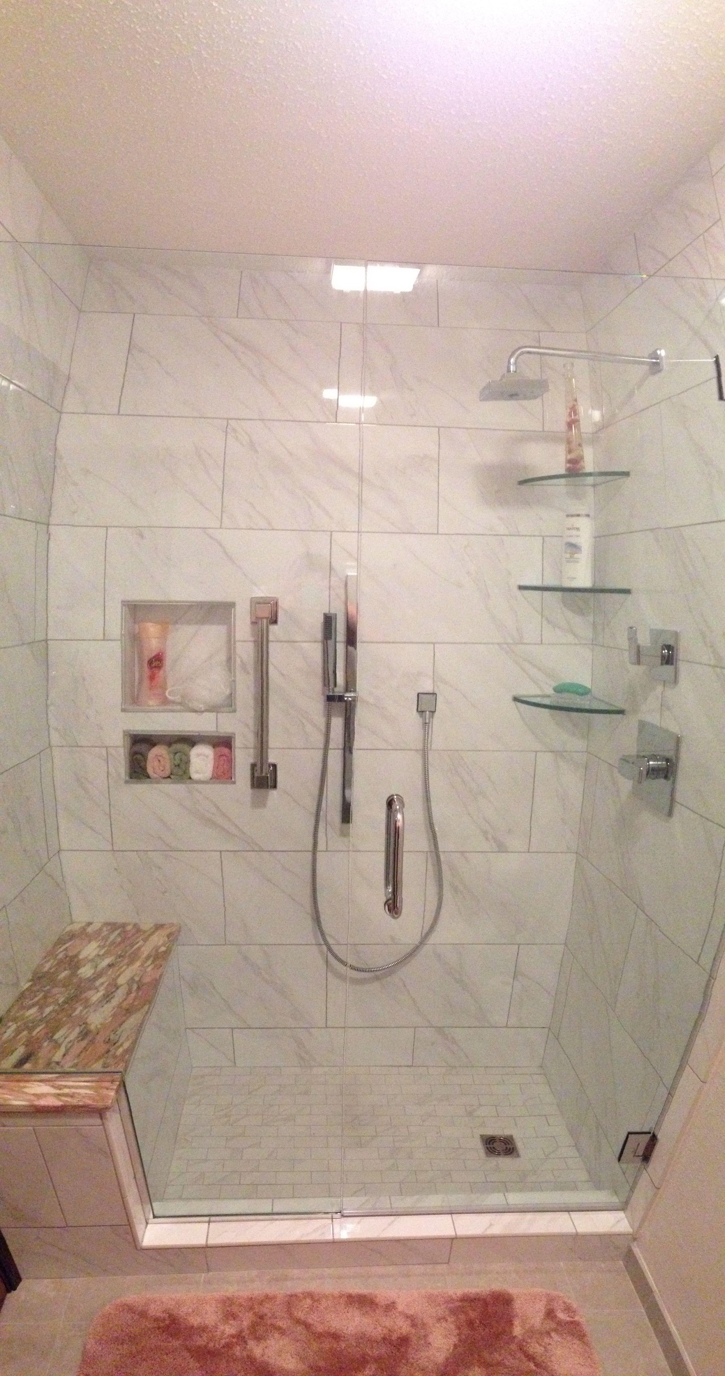 Tub To Shower Conversion Daltile Florentine Color Carrara Condo - Daltile houston richmond