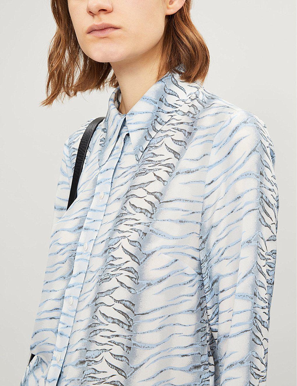 403e348e8 RIXO Jamie tiger-print silk shirt in 2019 | wear it | Shirts, Tiger ...