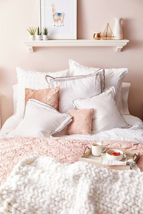 Blush Pink Bedroom Ideas Dusty Rose Bedroom Decor And Bedding I Love Clever Diy Ideas Pink Bedroom Decor Pink Bedroom Design White Bedroom Decor