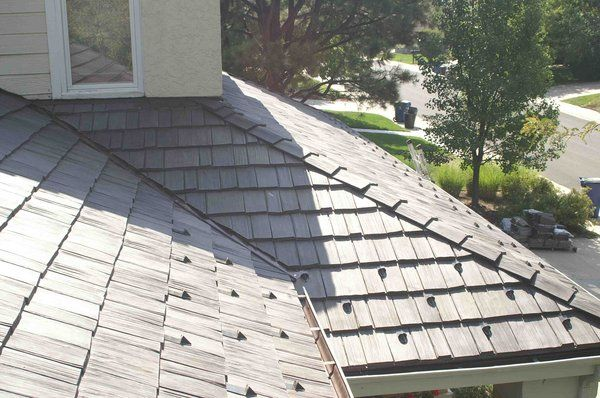 Davinci Bellaforte Shake Synthetic Composite Specialty Roof System Shake Style With Snow Guards Yelp Exterior Shingling Roofing Systems