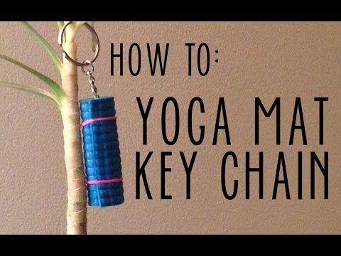 ▶ Yoga Mat Keychain HOW TO | Perfect Yoga Gift - YouTube