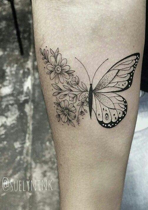 Photo of Schmetterlinge und Blumen Tattoo Designs –  Atemberaubende und schöne Schmetter…