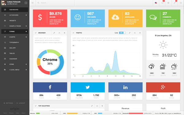 Origin Admin - Responsive WebApp Dashboard is a fully featured ...
