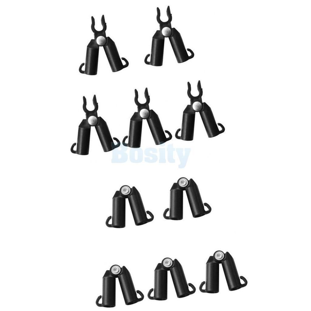 10Pcs Pe Plant Clips Vine Support Connector Vines Grow Stick Clip 20Mm Black