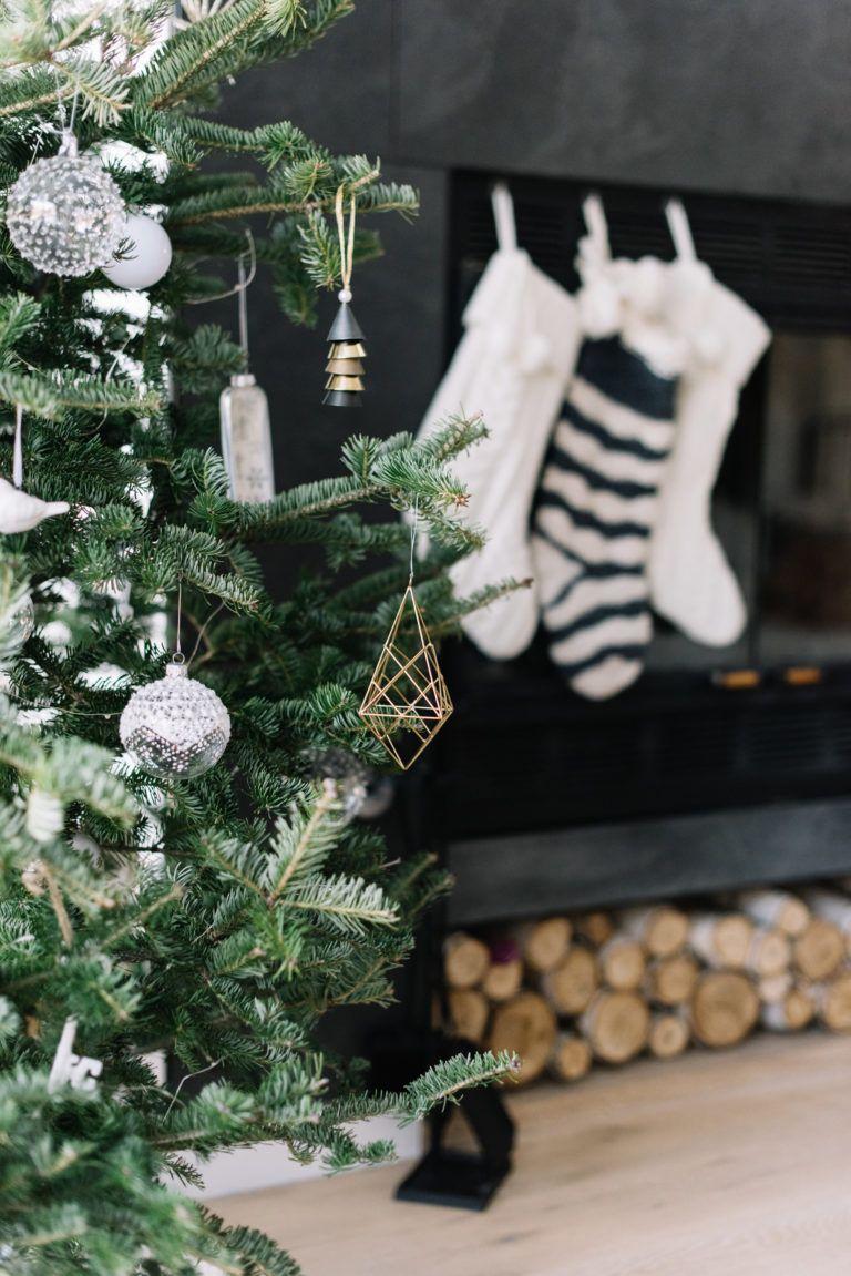 Modern Minimal Holiday Home Tour Decor Scandinavian Christmas 2017Christmas