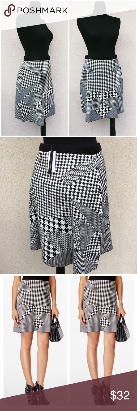 🌟NWT🌟 Sweater Skirt Houndstooth Pattern Skirt is new with tags without any defects. Grace Elements Skirts