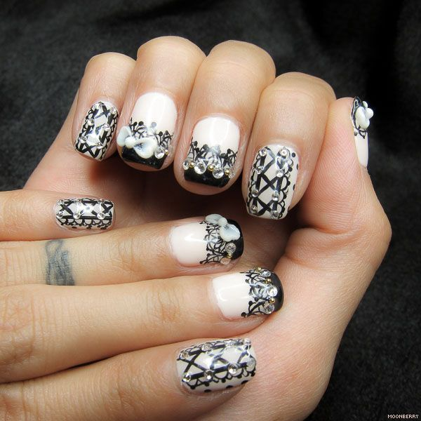 Lace and Corset #NailArt #Manicure | The Moonberry Blog | Things I ...