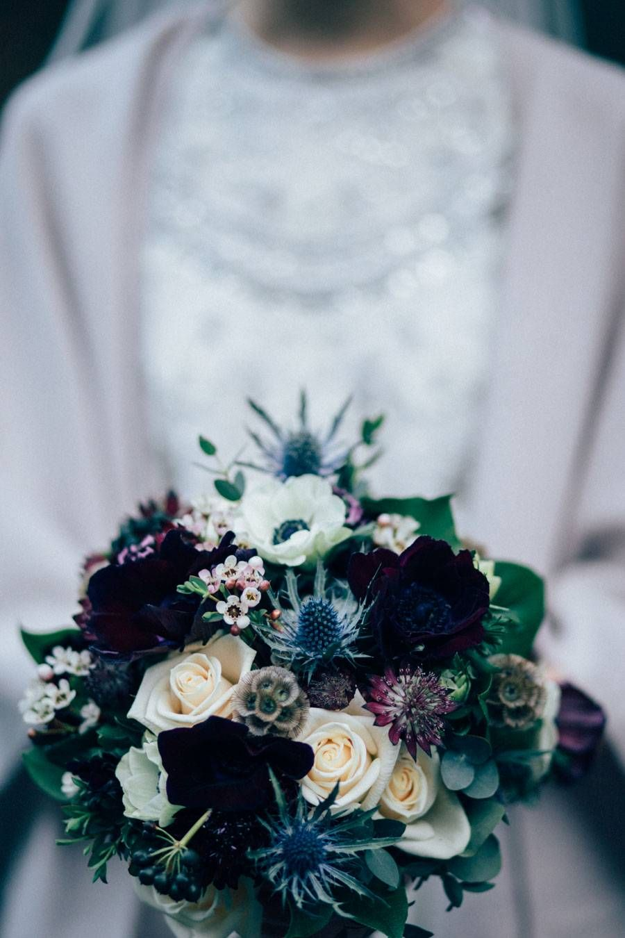 Cain Manor Whimsical Winter Wedding Sarah Jonathan Simple